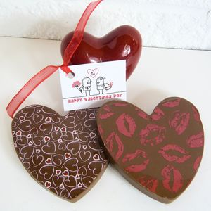Chocolate Hearts With Hearts And Kisses