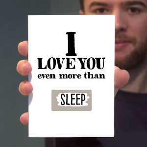 'I Love You More Than' Scratch Card - personalised cards