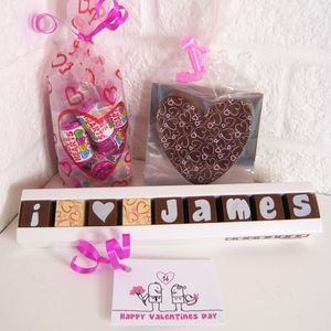 Personalised 'I Love You' Chocolate And Sweets Gift Bag