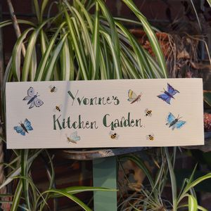 Bespoke Butterfly Garden Sign - art & decorations