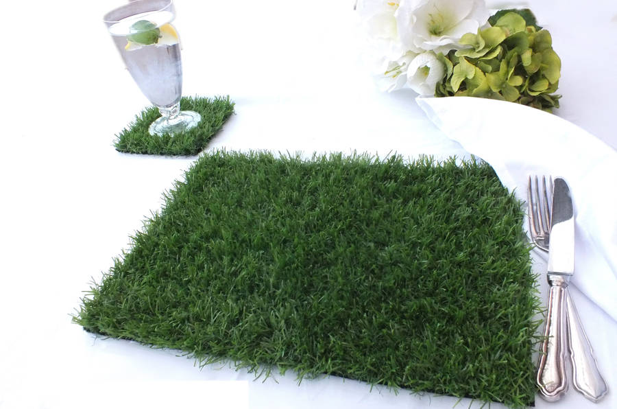 Artificial Grass Place Mats Set Of Six By Artificial