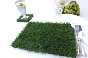 Artificial Grass Place Mat And Coaster Set - placemats & coasters