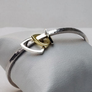 Tumbling Triangle Bangle - men's jewellery