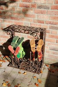 Decorative Cast Iron Boot Storage Rack - storage