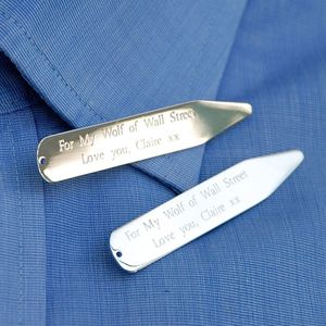 Personalised Collar Stiffeners - fashion sale