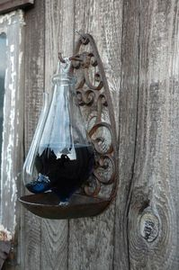 Thunder Glass Weather Barometer With Cast Iron Mount - art & decorations
