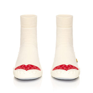 Adult's Warm Heart Moccasin Slippers