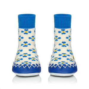 Child's Forget Me Not Moccasins