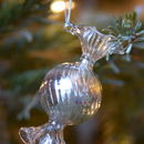 A Set Of Three Glass Sweet Decorations