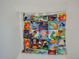 Handmade Dc Comics Patchwork Cushion Cover