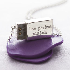 Personalised Silver Matchbox Necklace - jewellery sale