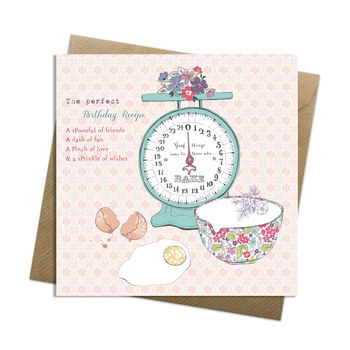 Birthday Recipe Card