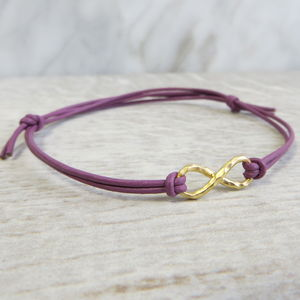 Yellow Gold Infinity Bracelet - gifts for her