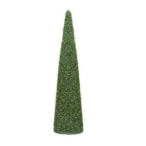 Boxwood Cone Topiary Tower - outdoor decorations