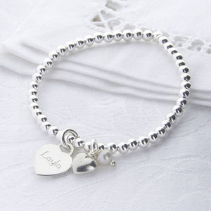 Bridesmaid Personalised Sterling Silver Ball Bracelet - women's jewellery
