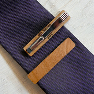 Personalised Secret Message Tie Clip