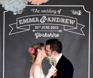 Personalised Chalkboard Party Backdrop - rustic wedding