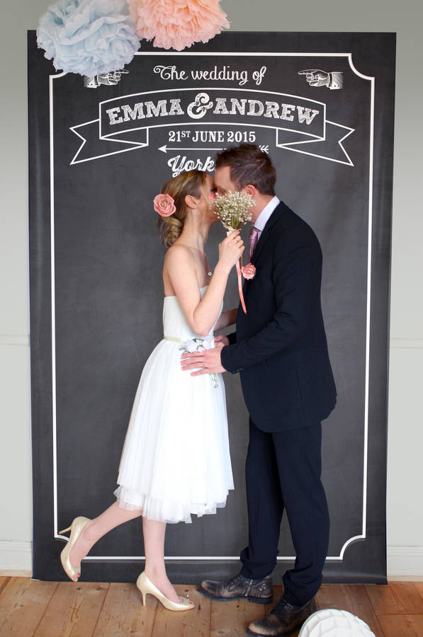 Personalised Chalkboard Party Backdrop By Modo Creative