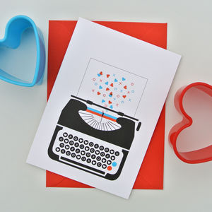 Love Typewriter Valentines Day / Love Card