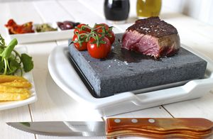Steak Stone And Plate Set - kitchen