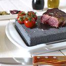 Steak Stone And Plate Set