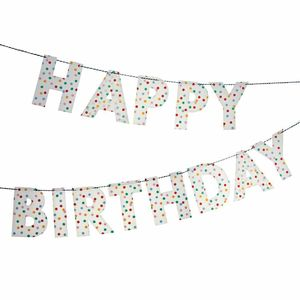 Happy Birthday Party Bunting - outdoor living