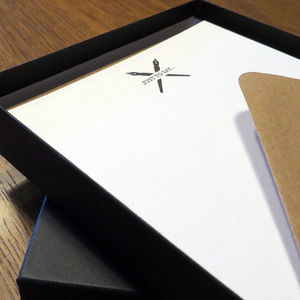 'Just To Say' Box Set Of Letterpress Notecards - thank you cards