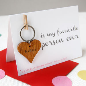 Personalised 'My Favourite Person' Keyring Card - wedding, engagement & anniversary cards