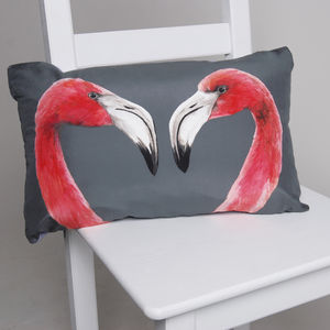 Flamingo Cushion - bedroom