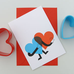 Heart Man Valentine's Day / Love Card