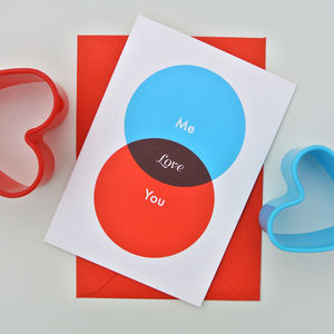 Love Venn / Valentine's Day / Anniversary Card - shop by category