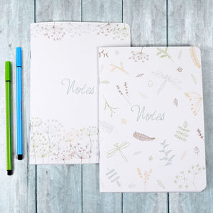 Cow Parsley And Nature Illustration Notebooks