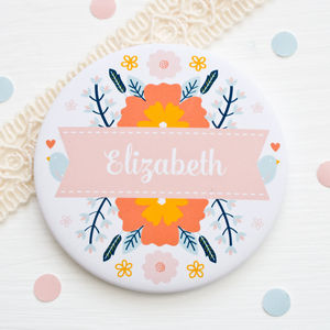 Personalised 'You Are Lovely' Pocket Mirror
