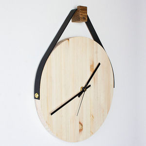 Wooden Hanging Wall Clock - home accessories