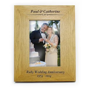Ruby Wedding Personalised Anniversary Picture Frame