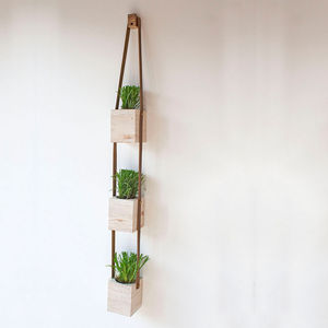 Wooden Hanging Wall Pot Planters - on trend: indoor gardens