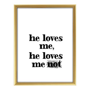 'He Loves Me' Print - posters & prints