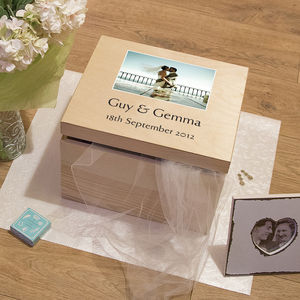 Personalised Wedding Memory Box With Photo - keepsake boxes