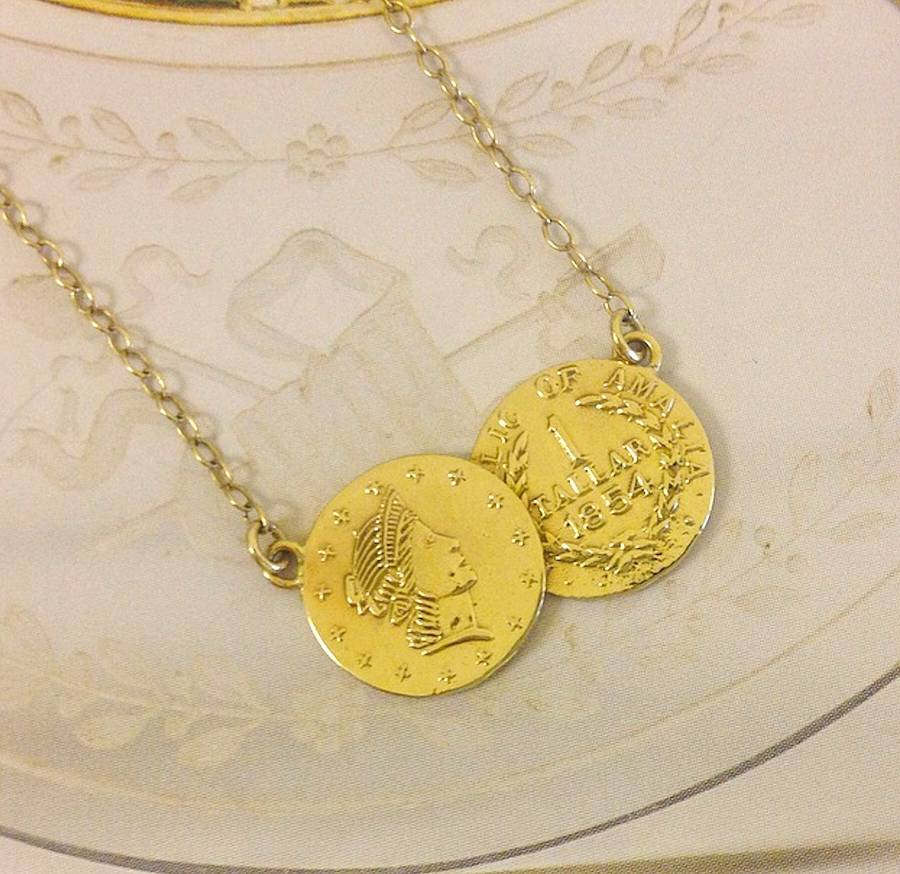 Mini Coin Double Pendant