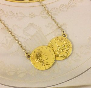 Mini Coin Double Pendant - necklaces & pendants