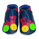 Soft Leather Baby Shoes Choo Navy