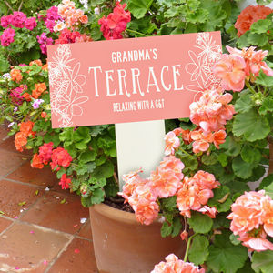 Personalised Enamel Garden Stake - art & decorations