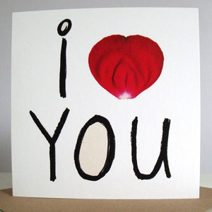 'I Heart You' Card - valentine's cards