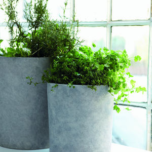 Set Of Three Concrete Planters - indoor plant pots