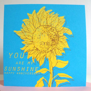 'You Are My Sunshine' Anniversary Card