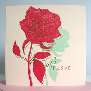 'To The One I Love' Card