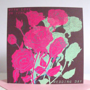 'With Love On Your Wedding Day' Card - wedding cards