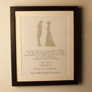 Personalised Pride And Prejudice Print - shop by price
