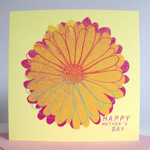 'Happy Mother's Day' Flower Card - mother's day cards