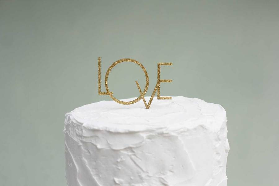Art Deco Style Cake Topper : art deco style  love  wedding cake topper by pea green ...